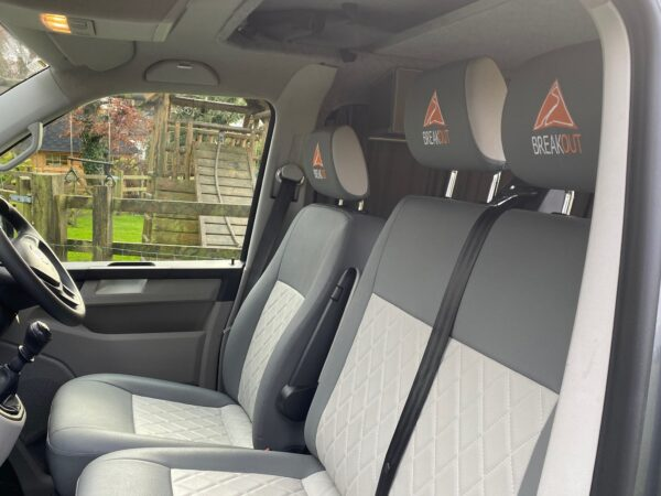 Inside a VW Transporter Camper for hire in Bolton with Breakout Campers