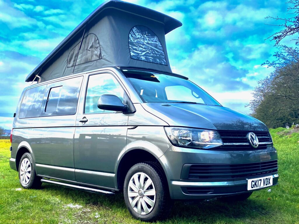 VW Transporter Campervan Hire with Pop-Up top from Breakout Campers