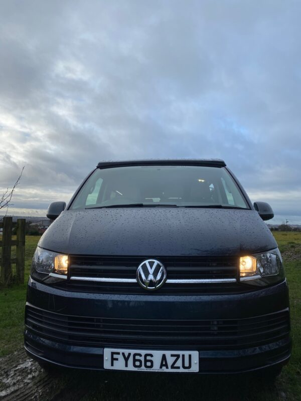Crib Goch VW Transporter Camper for hire in Lancashire with Pop Top