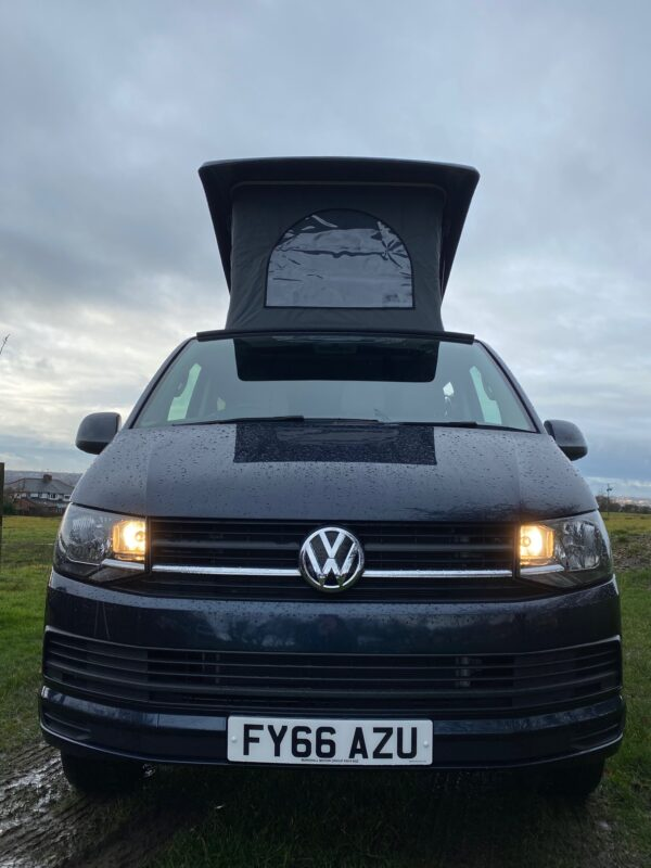 Crib Goch VW Transporter Camper for hire in Bolton with Pop Top
