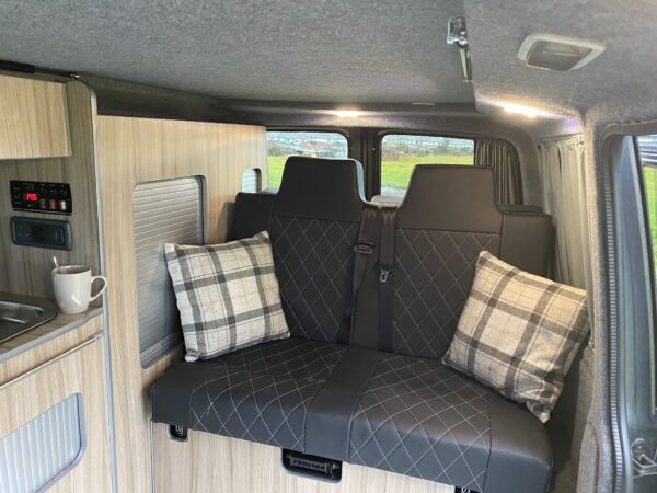 Inside a VW Transporter Campervan, Available to hire with Breakout Campers - campervan hire in Lancashire