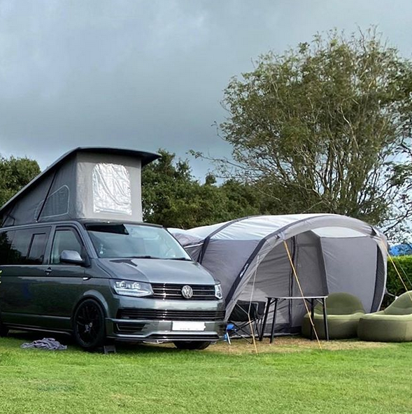 VW Campervan and Vango Awning hired through Breakout Campers