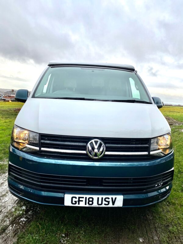 Grey and White VW Transporter Campervan from Breakout Campers